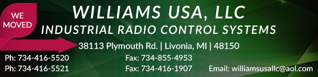 Williams Wireless Industrial Radio Control Systems
